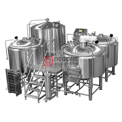 1500L ølhåndverkssystem for rustfritt stål 2/3/4 Fartøy Brewhouse Equipment Listing